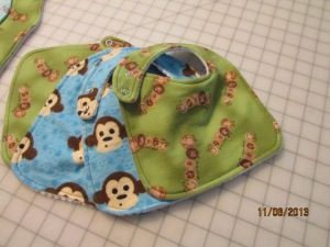 Found the perfect use for the last little bit of the adorable caterpillar fabric. :-)